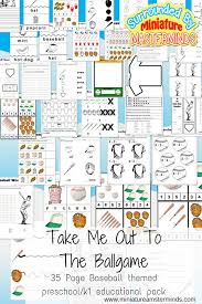 take me out to the ballgame free 35 pages of baseball theme