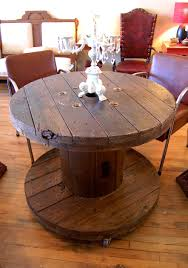 Wire Spool Table Industrial Wire Spool Covet Consign U0026 Design