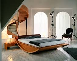 Teak Wood Bed Designs Wonderful Wooden Bed Design With Curve Shape And Furnished With