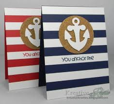nautical trend in rubber sting and card catherine