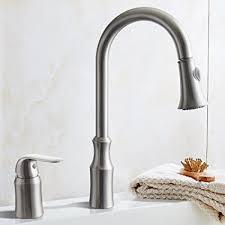 brushed nickel single handle kitchen faucet kes brass pulldown kitchen faucet brushed nickel single handle 2