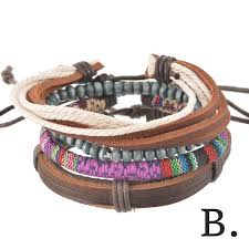 adjustable braided leather bracelet images 4 piece braided adjustable leather bracelet jpg