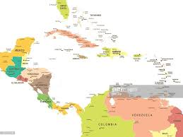 Central America Map by Map Of Central America Illustration Vector Art Getty Images