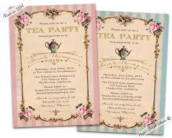 tea party bridal shower invitations bbq baby shower invitations personalized printable or printed 5x7