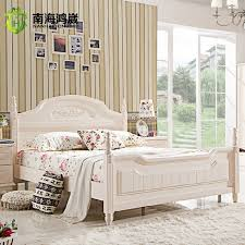 korean furniture wood double bed frame white korean high box bed