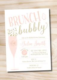 brunch bridal shower invitations brunch and bubbly bridal shower invitation confetti glitter