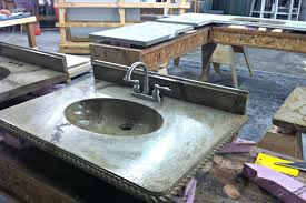 imperial integral bathroom sink u2013 all star concrete