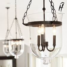 american country style glass pendant light with iron hardware