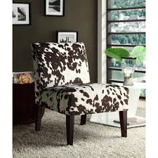 Brown Accent Chairs Homesullivan Cowhide Accent Chair 40468f23s 3a The Home Depot