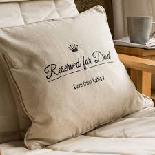 Personalised Duvet Covers Personalised Natural Cushion Reserved For Dad Gettingpersonal