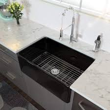 best kitchen sink for 30 inch base cabinet 30 farmhouse sink lordear 30 inch black farmhouse kitchen sink apron front gloss black fireclay porcelain ceramic single bowl kitchen farm sink