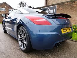 peugeot rcz inside used 2014 peugeot rcz 1 6 thp gt 2dr for sale in derbyshire
