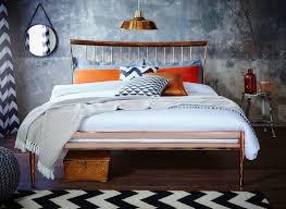 blake copper metal bed frame dreams