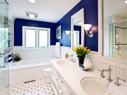 blue and yellow bathroom decorating ideas home design