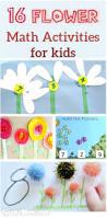 16 flower math activities for preschool and kindergarten kids