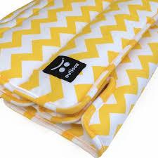 easy care outlook easy care universal pram liner yellow chevron stripe