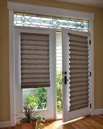stained glass designs for doors french doors with stained glass and shades choosing blinds for