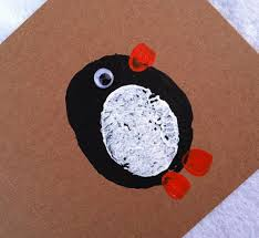 mollymoocrafts penguin potato print cards mollymoocrafts
