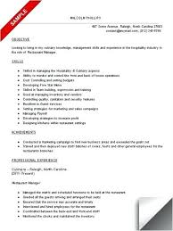 resume exles for fast food sle resume for restaurant resume template fast food