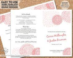 print at home wedding programs wedding program chevron ombre aqua diy editable word
