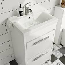 clarity white vanity drawer unit with basin 500mm victoriaplum com