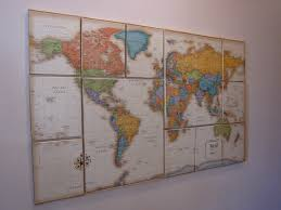 Canvas Map Of The World by The After 30 Part The World On Canvas