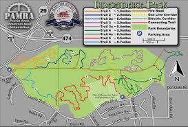 Map Indy Independence Park Peoria Area Mountain Bike Association