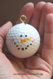 golf ball snowman christmas ornament craft snowman golf and