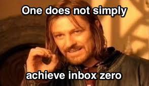 Inbox Meme - why reaching inbox zero is so hard sandglaz blog