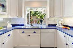 blue countertop kitchen ideas backsplash and green paint to work with blue countertops kitchen