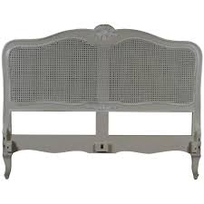 louis french antique white rattan headboard french headboards