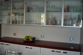 meuble de cuisine en verre meuble de salle à manger blanc brillant et verre sadeco le