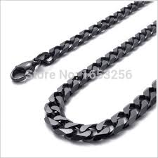 black link necklace images Fate love 18 39 39 32 39 39 wide 8mm black top quality never fade jpg
