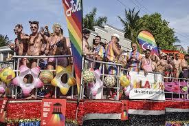 Conch Republic Flag Celebrating Key West Where The Rainbow Flag Flies Year Round On