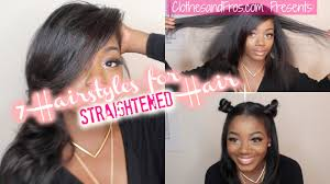 Easy Hairstyles For Medium Straight Hair by 7 Easy Hair Styles For Straightened Hair Youtube