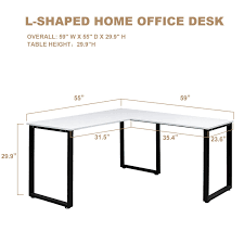 L Shaped Office Desk Dimensions by Amazon Com Merax L Shaped Office Workstation Computer Desk Corner