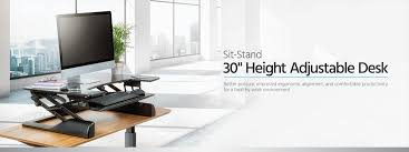 Height Adjustable Desks by Sit Stand Height Adjustable Desk 30 Monoprice Com