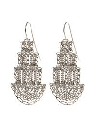 pagoda earrings large silver pagoda earrings kate wood jewellery