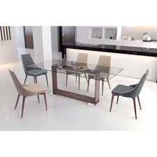 rectangle glass kitchen table glass kitchen tables attractive the oasis dining table features a