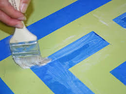 Painting An Outdoor Rug Painting A Faux Area Rug Hgtv