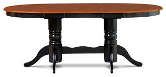 Black Oval Dining Room Table - 42