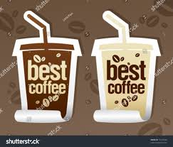 best coffee stickers form take away stock vector 75135544