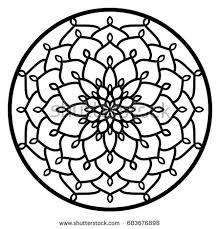 vector stencil lacy ornament mandala stock vector 603676898