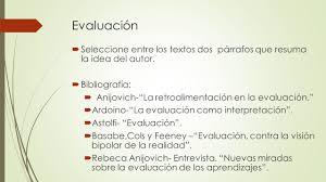 la evaluación de los aprendizajes su registro y comunicación
