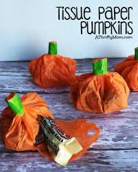 tissue paper pumpkins great favor