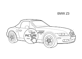 super car bmw z3 coloring page for kids printable free coloing