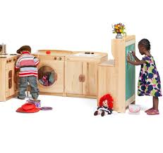 preschool kitchen furniture woodcrest kitchen set from community playthings for