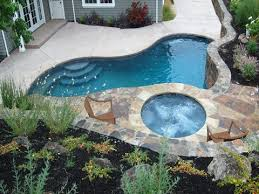 Inground Pool Landscaping Ideas Small Backyard Swimming Pool Designs Home Interior Design And