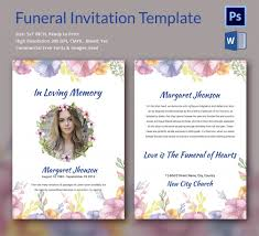funeral invitation template free 28 images of downloadable funeral invitation template diygreat