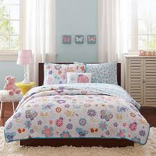 Coverlet Bedding Sets Mi Zone Kids Fluttering Farah Coverlet Bedding Set Full